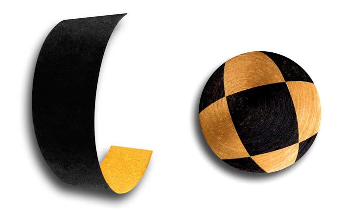 Pendentif Balle - Broche Copeau