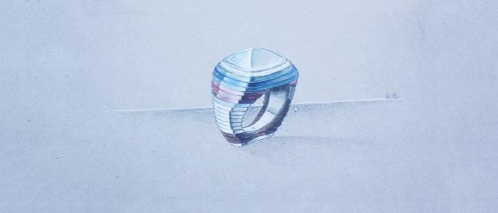 Disegno anello Strates INEDIT
