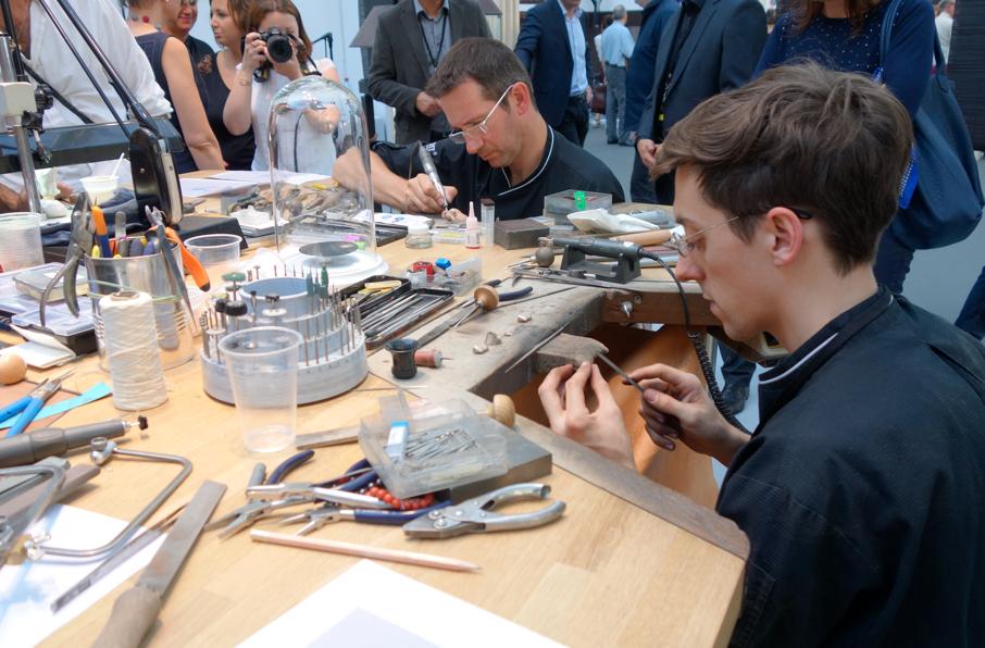 Gli artigiani INEDIT al lavoro al Grand Palais