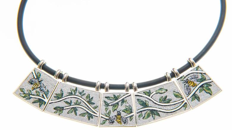 La collana Dafne di Elena Lo Presti primo premio al Concorso gioielloinarte