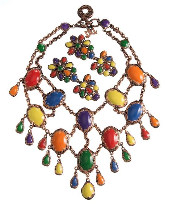 De Liguoro al Museo del Bijou di Casalmaggiore, collana e orecchini 1991