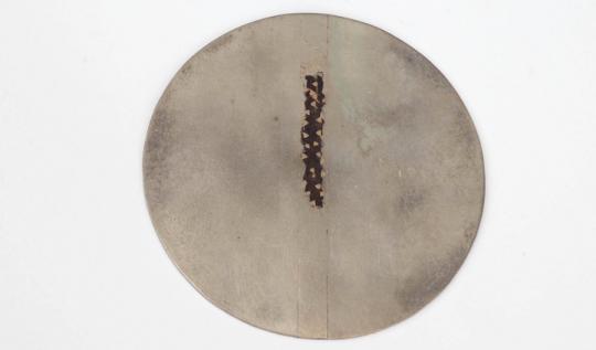 Stefano Marchetti - 016 Spilla (bozzetto privo di ago) 1989, argento,oro, argento patinato