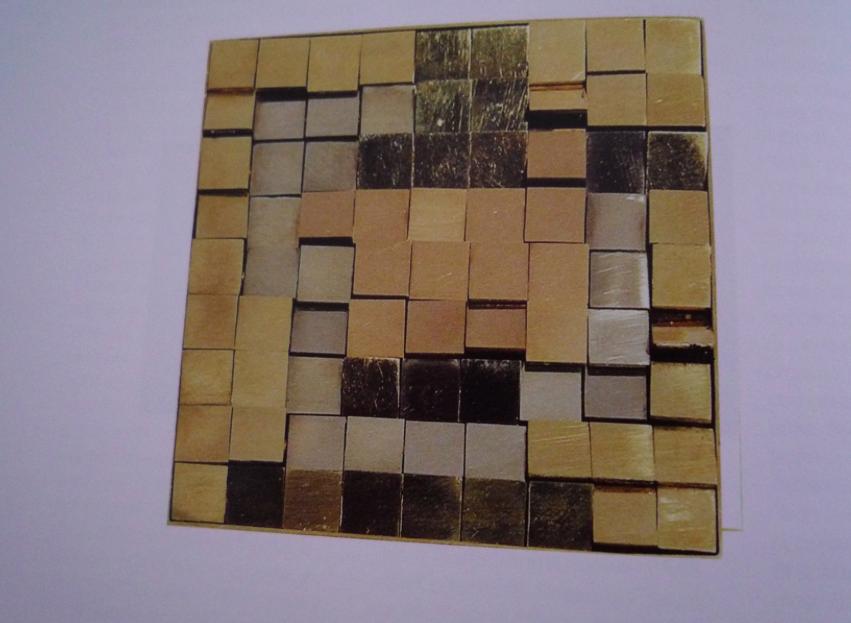 Claudio Mariani Spilla Ricerca luminosa n.5 oro giallo, oro rosso, oro bianco, ebano, 1973