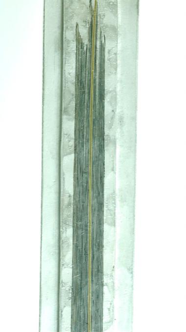 Un particolare della collana. Ricordate il lavoro sull'impressione di sfumatura sul metallo? Leggetevi il post del 5 febbraio
